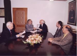 Assinatura do Protocolo entre Gradiva e a UA - Dezembro de 1997