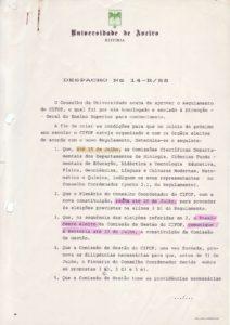 Despacho nº 14- R/88 de 11 Julho 1988