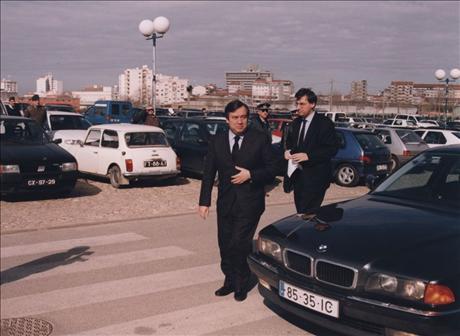 FT-EP-2-65 1998-Visita do Primeiro Ministro Eng António Guterres ao CCC de Aveiro Conferência Cidades Digitais 10 Fevereiro