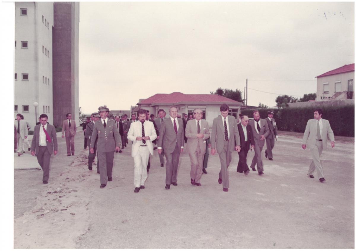Fotografia 1 - Visita do Primeiro-Ministro Mário Soares à UA, 1984