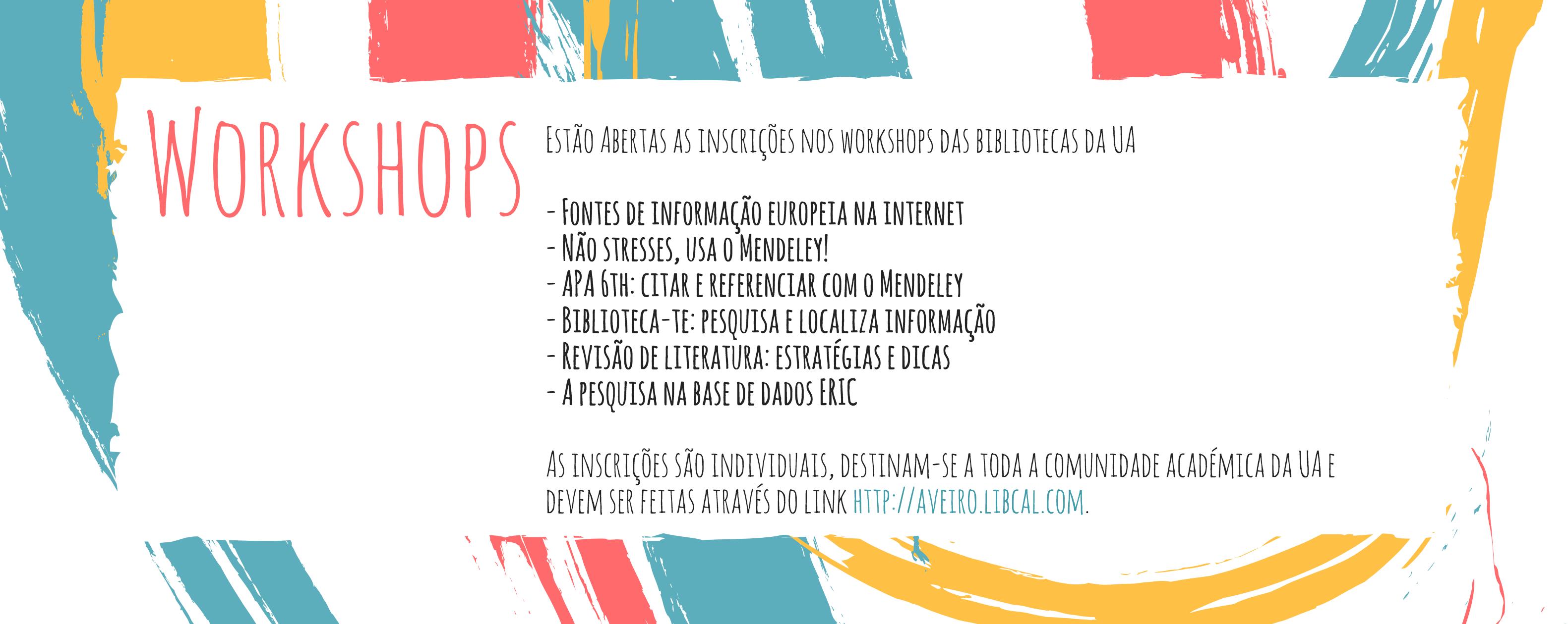 Workshops das Bibliotecas da UA