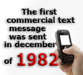 The first commercial text message