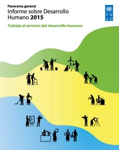 Capa do Relatório do PNUD de 2015