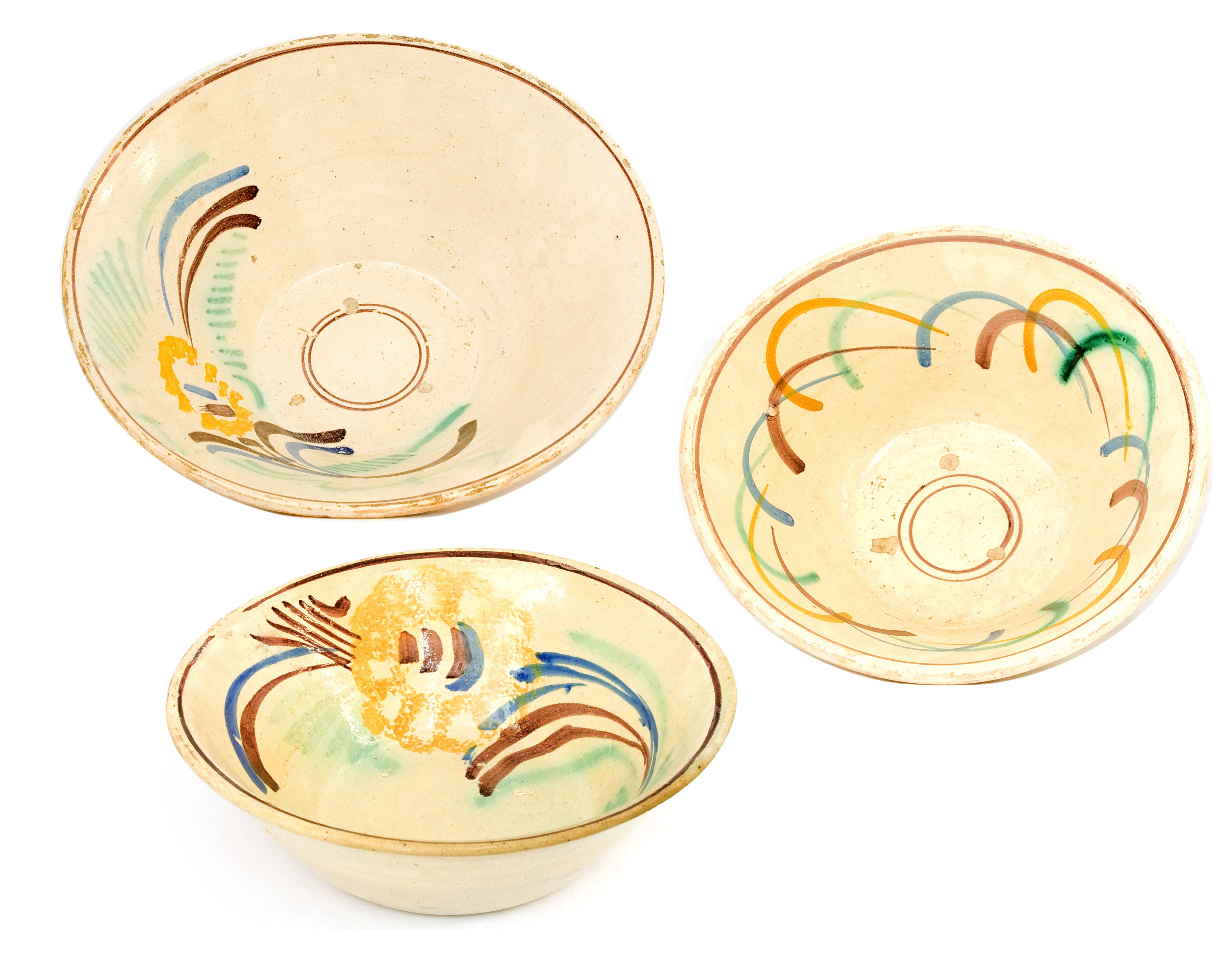 """Conjunto de pratos de cerâmica """"ratinhos"""""""