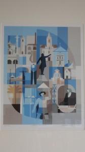 Autor - Penincheiro, José (Tábua, 1921); Ano – 2003; Técnica – Serigrafia sobre papel; Dimensões – 84,5x73 cm