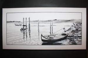 Bateiras da Ria de Aveiro II, João Melo, 2013, Acrílico sobre papel, 60cm X 30cm